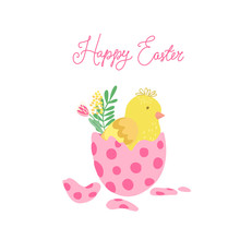 Easter Greeting Card With A Pi...