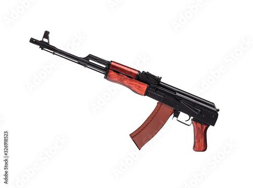 AK 47 on white background Canvas Print