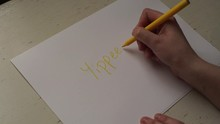 4k Hand Writing YIPPEE! On A W...