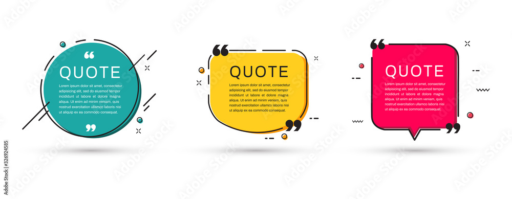 Fototapeta Quote frames templates set. Vector illustration