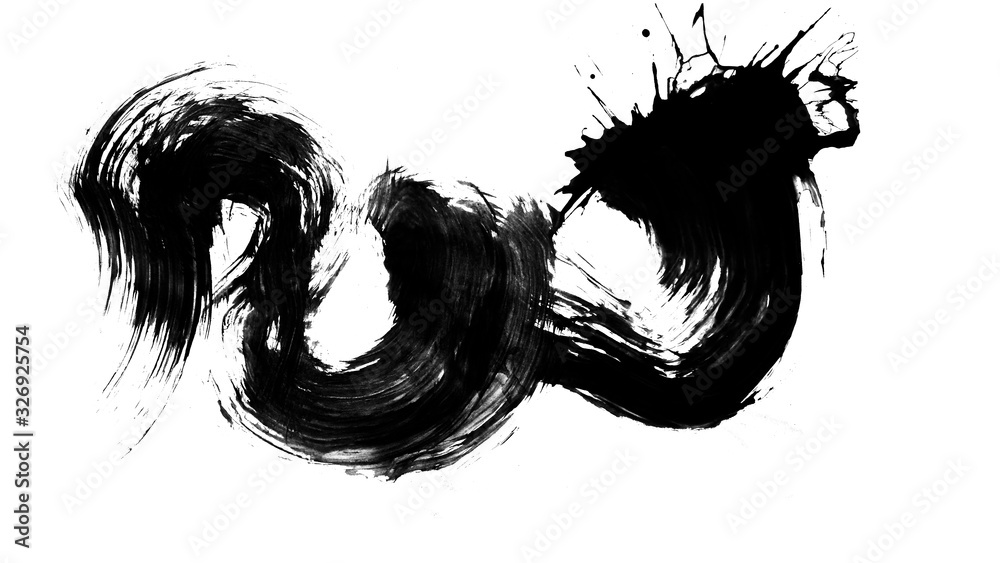 Texture abstract japanese ink on white paper Background for web,game design, design cover, presentation, invitation, flyer, poster, Dark Smear , wallpaper , Grunge mud art