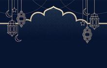 Islamic Arabic Lantern For Ramadan Kareem Eid Mubarak Background