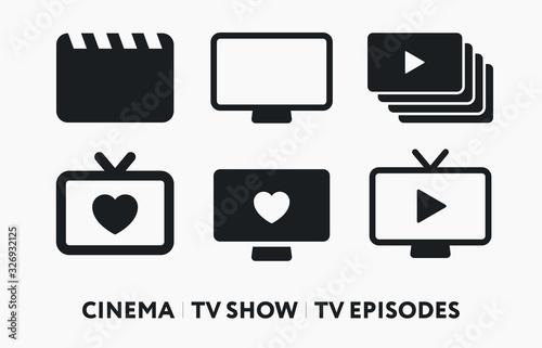 Cinema Film TV Show, Episodes, Series Tablou Canvas