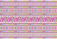 Embroidered Pattern Vector Ill...