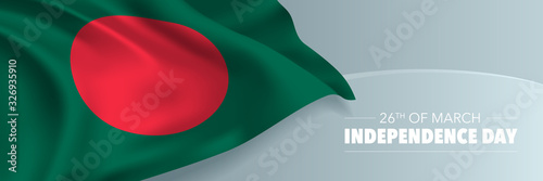 Bangladesh independence day vector banner, greeting card Fototapete