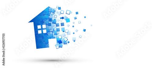 casa, abitazione, immobiliare, skyline Canvas-taulu