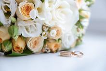Wedding Rings Lie In Front Of ...