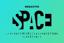 Negative Space Style Font, Alp...