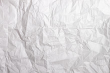 Texture Of White Crumpled Pape...