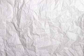 Texture of white crumpled paper. Wrapping paper. Texture, background.