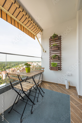 Cuadros en Lienzo Small apartment interior terrace with a view