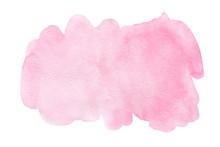 Pink Splash Watercolor Hand Dr...