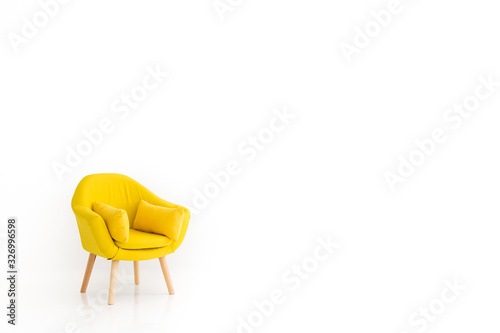 modern armchair Canvas Print
