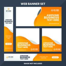 Modern Web Banner Ad Set Templ...