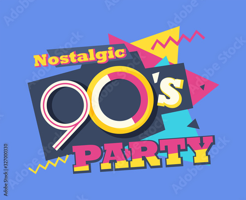 Fotografie, Tablou Party time The 90s style label