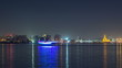 Doha skyline with the Islamic Cultural Center timelapse in Qatar, Middle East