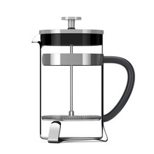 French Press Coffee Or Tea Pot. 3d Rendering