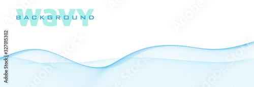 Fotografía Wavy background with light blue wave. Subtle vector pattern