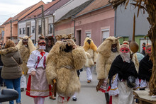 Busojaras (Buso-walking) An Annual Masquerade Celebration Of The Sokci Ethnic Group Living In The Town Of Mohacs, Hungary.