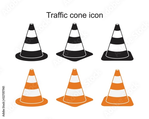 Fotomural Traffic cone icon symbol Flat vector illustration for graphic and web design