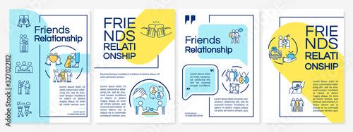 Fotografie, Tablou Friends relationship brochure template