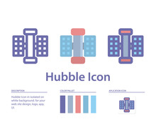 Hubble Icon In Isolated On Whi...