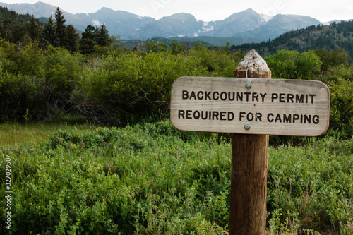 RMNP Backcountry permit required sign Canvas Print
