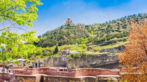 Fényképezés Tbilisi, Georgia Tabor Monastery of the Transformation church on the hill