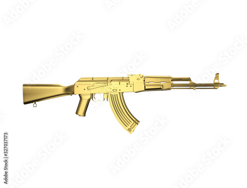 Photo high-quality 3D render of the AK 47 assault rifle