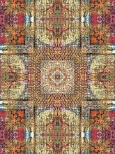 Kaleidoscopic View Of Encaustic Sample Creates A Cross Shape