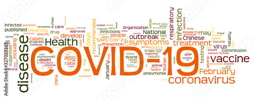 Covid 19 - Corona Virus Words Cloud - English