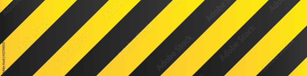 Fototapeta Illustration of yellow and black stripes.a symbol of dangerous and radioactive substances.The sample is widely used in industry.Vector Illustration