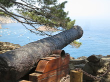 Old Cannon On The Beach