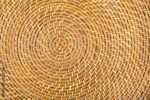 Obraz Motif d'un plateau en osier tressé - fototapety do salonu