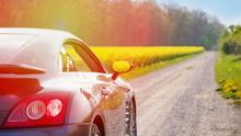 Stylish Sports Car On A Rural ...