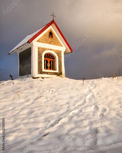 Stara Kapliczka w Kończycach Wielkich w gminie Hażlach