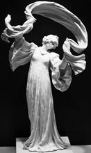Statue Of An Angel On Black Ba...