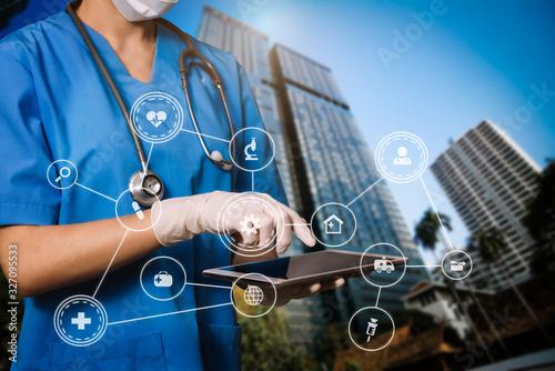 Foto Medical technology concept