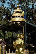 The Statue Of Buddha At World Peace Pond, Swayambhunath, Kathmandu, Nepal
