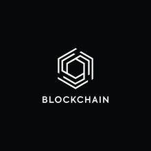 Blockchain Logo Template. Tech...
