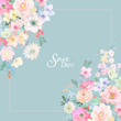 Set of card with flower rose, leaves. Wedding ornament concept. Floral poster, invite. Decorative greeting card or invitation design background