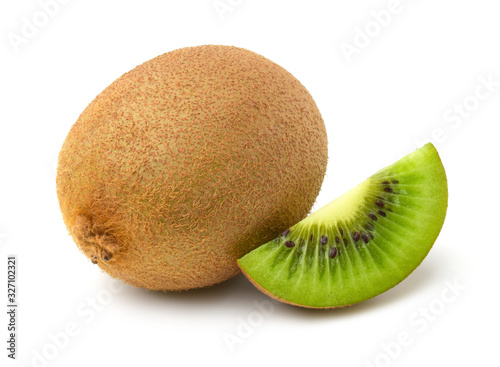 Fotografie, Obraz kiwi fruit isolated on white background.