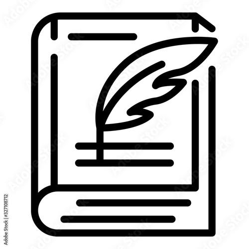 Photo Closed book and pen icon