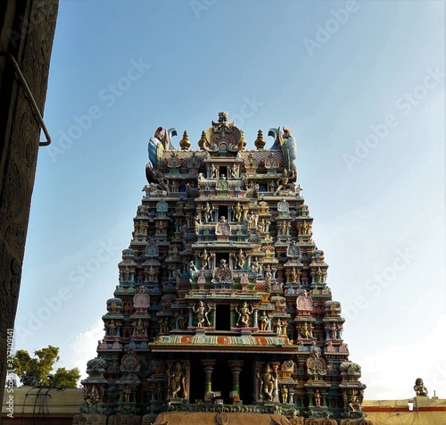 different photos of famous Minakshi temple at Madurai India Wallpaper Mural