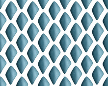 Geometric Gouache Hand Painted Seamless Diamond Pattern In Blue, White And Teal