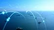 canvas print picture - 船舶とネットワーク