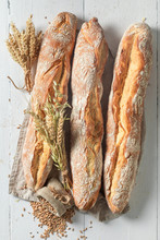 Crunchy French Baguettes Fresh...