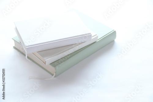 積み重ねられた本(白いイメージ) Canvas Print