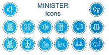 Editable 14 Minister Icons For...