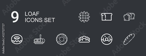 Fotografie, Obraz Editable 9 loaf icons for web and mobile
